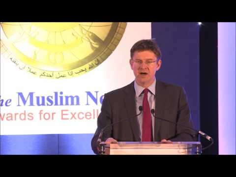 Muslim News Awards for Excellence 2016: Rt. Hon. Greg Clarke MP