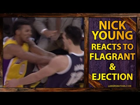 Video: Lakers Nick Young Ejected After Elbow To Throat, Rips Steven Adams