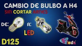 6. Italika D125    Cambio de Bulbo Original a Led H4