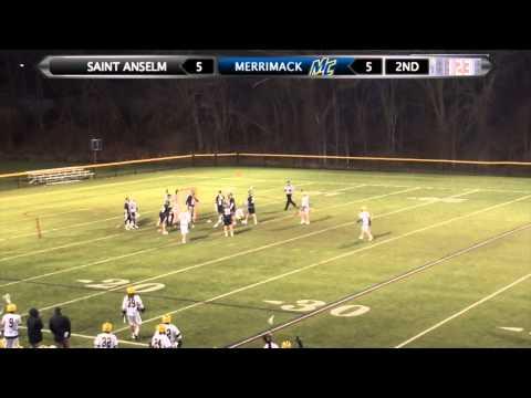 MLAX: Men's Lacrosse Highlights vs. Saint Anselm (4-16-14)
