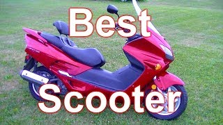 7. Best Scooter For Adults - The $1000 Used Honda Reflex 250cc Motor scooter.