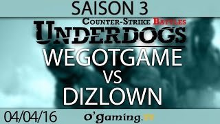 WeGotGame vs Dizlown - Underdogs CS:GO S3 - Qualifier #1