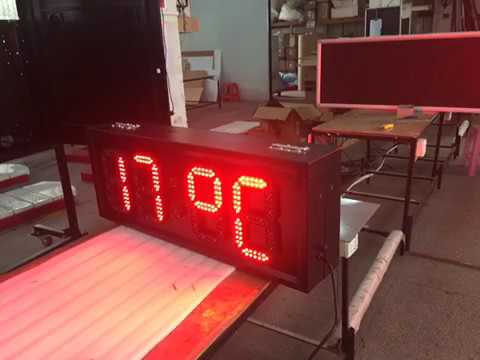 7 segment 88:88 format red color, time, date, temp display double side