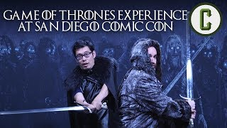 Collider's Dennis Tzeng and Ken Napzok take part in the Game of Thrones Experience at San Diego Comic-Con 2017. From fighting White Walkers to taking ...
