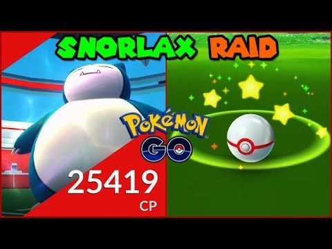 Snorlax RAID in Pokemon GO with PEPCHU! (Pokemon Go RAID)