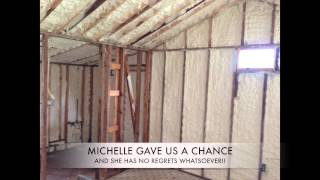 <h5>Louisiana real estate agent trusts Sunlight Contractors</h5><p>Michelle Samuels, a Louisiana real estate agent, hired our crew to install blown in cellulose insulation in her Covington home&#039;s attic and closed cell in the crawlspace. She was so impressed with the work we did, she hired us to work on one of her properties for sale.  </p>