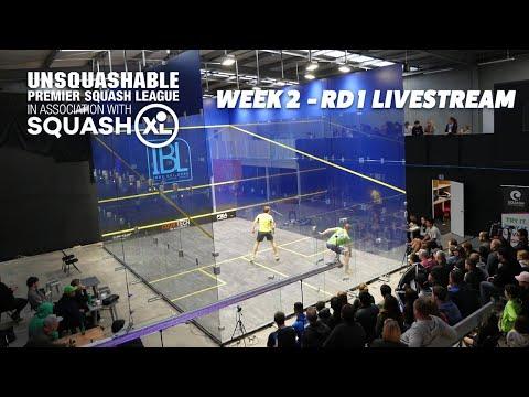 Week 2 - Rd 1 Livestream - UNSQUASHABLE Premier Squash League - SQUASHXL