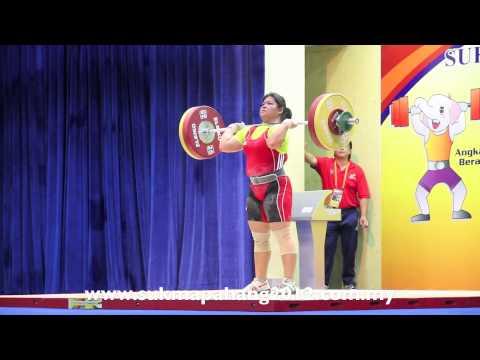 Sarawak Menjuarai Acara Angkat Berat Kategori Snatch Atas 75 Kg 14/7/2012