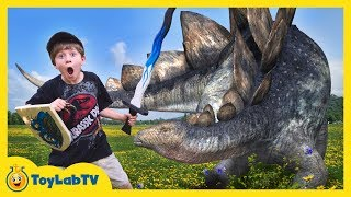 It's an epic sword battle between Park Ranger LB and a GIANT life size Dinosaur! In this Jurassic Adventure, Park Ranger Aaron ...