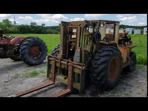 Gregory Mfg. Co.  All Terrain Fork Lift Truck Model H800