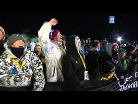 First Frontflip landed on a Snowmobile at X Games 2012