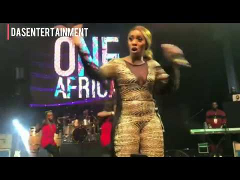 Wizkid and Tiwa Savage perform together at the ONE AFRICA MUSIC FEST IN DUBAI 2017