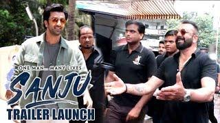 Video Ranbir Kapoor's MACHO ENTRY At Sanjay Dutt's Biopic Sanju Trailer Launch MP3, 3GP, MP4, WEBM, AVI, FLV Agustus 2018