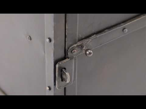 Video for Fulton Black Industrial Side Chest