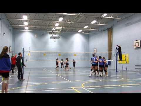 Spikeos Ladies 1 vs Oxford Eagles - 09.02.2014 first set (видео)