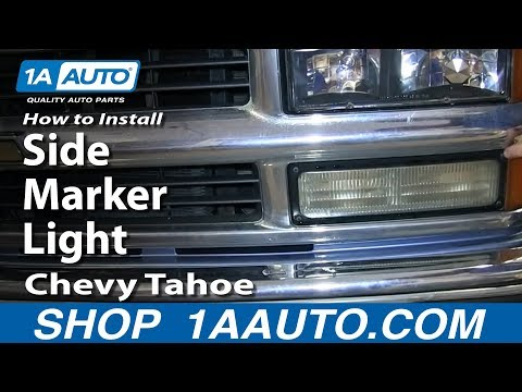 How To Install Replace Side Marker Light 1996-99 Chevy Tahoe Suburban C1500 K1500 Pickup Truck