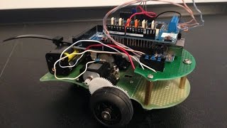 Test of arduino robot controlled by infrared remote control http://www.warewolf.cz/2015/04/remote-controlled-robot/ Infrared sensor TSOP4838 Arduino Mega ADK...
