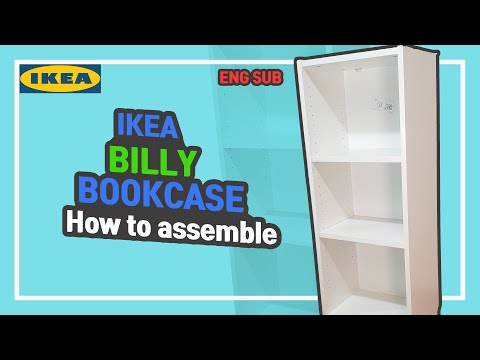 [IKEA][ENG SUB] BILLY BOOKCASE, How to assemble~It's not difficult.