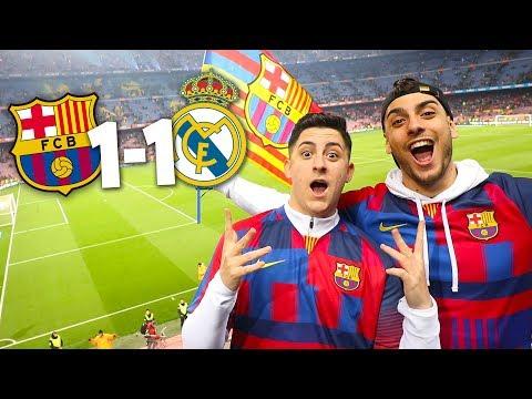 REACCIONANDO BARCELONA vs REAL MADRID 1-1 [LLOROS EN HD4K]