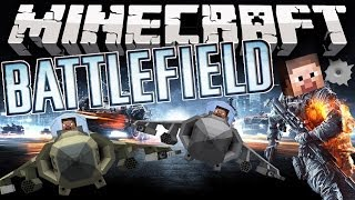 Minecraft: BATTLEFIELD MOD! (Fighter Jets, Helicopters, Tanks, Guns,&MORE!) | Mod Showcase
