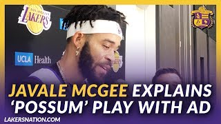 Lakers Post Practice: JaVale McGee Explains 'Possum' Play With AD From Last Night's Preseason Game by Lakers Nation