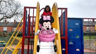 Hey guys, check out this little girl taking her Pink Minnie to the park. She pushes Minnie and pink pram down the slide but has a HUGE ACCIDENT!! Oh no, is Minnie ok? Watch to find out!Check our Awesome Videos:https://www.youtube.com/watch?v=jBIiwxpFK4c&list=PLzahQAalW-PgGFBK2ej2w-elb6BEC6ly4Our Fun Ride On Videos:https://www.youtube.com/watch?v=W5Ia-QfGWOo&list=PLzahQAalW-PgDVj590PlF9K06iw6ZTlv3Superhero & Princess Action Videos:https://www.youtube.com/watch?v=jR75lmudg40&list=PLzahQAalW-Pg47AHlXl1Tf1z5T9oYbSXoShopping & Days Out:https://www.youtube.com/watch?v=22fCmnnULNw&list=PLzahQAalW-PiyVi7AHw7-LDJGIKxc1zGNToy in other Languages: खिलौने, brinquedos, ของเล่น, اللعب, igračke, đồ chơi, oyuncaklar, leksaker, juguetes, играчке, игрушки, jucării, тоглоом, leker, اسباب بازی, zabawki, 장난감, トイズ, giocattoli, mainan, játékok, צעצועים, Hračky, legetøj, speelgoed, laruan, jouets, Spielzeug, ΠαιχνίδιαNadia Amani Toys is a fun channel where we do Toy reviews and unboxing, Playtime fun, Power Wheels Unboxing, Games and challenges, family days out, fun activities and more! We love kids YouTube Channels so we asked our dad to help us make our own! So guys can you please LIKE-COMMENT-SUBSCRIBE to our channel and help Nadia Amani Toys grow. Thank you.
