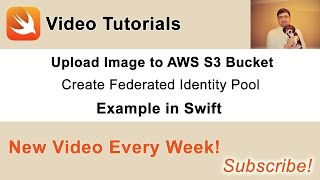 Source code and other videos you can find in this blog post of mine: http://swiftdeveloperblog.com/upload-image-to-aws-s3-bucket-in-swift/In this video we will learn how to use AWS Cognito Service to create an Identify Pool and get the identity pool id which will will use with credentials provider to connect to S3 service and be able to upload an image to S3 bucket.