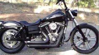 8. 2011 Harley Davidson FXDB Dyna Street Bob W/ RSD (Judge) Performance Machine intake & Wheels