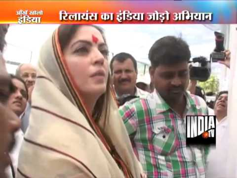 nita ambani - Nita Ambani visits village to help rural people !