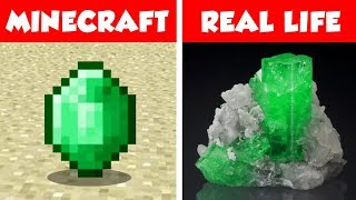 MINECRAFT EMERALD IN REAL LIFE! Minecraft vs Real Life animation