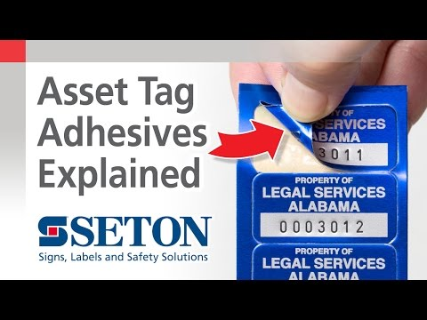 Adhesive Backing Options for Asset ID Tags | Seton Video