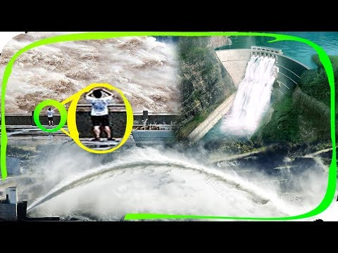 TOP 15 Emergency Water Discharge flood gate open top Dam opening /The incredible power of water