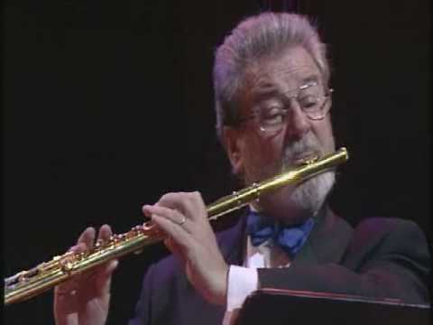 Mouquet-La Flute De Pan, 2nd mvt, James Galway (видео)