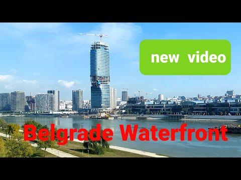 BELGRADE WATERFRONT CONSTRUCTION VIDEO FROM THE BRIDGE