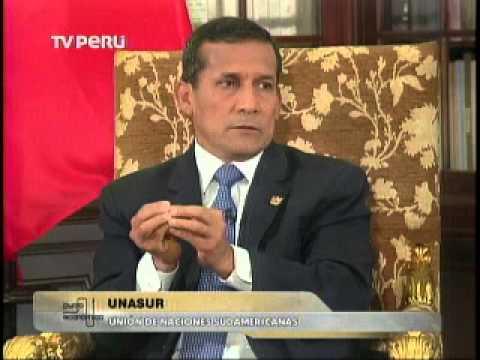 El Presidente Ollanta Humala habla sobre Unasur