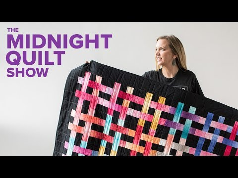 Beginner Friendly WEAVE IT BE Lattice Quilt (with Walking Foot Quilting!) | Midnight Quilt Show