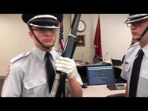 Video: Pledge of Allegiance Air Force JROTC style