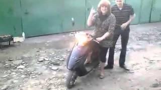 Su primer dia en moto
