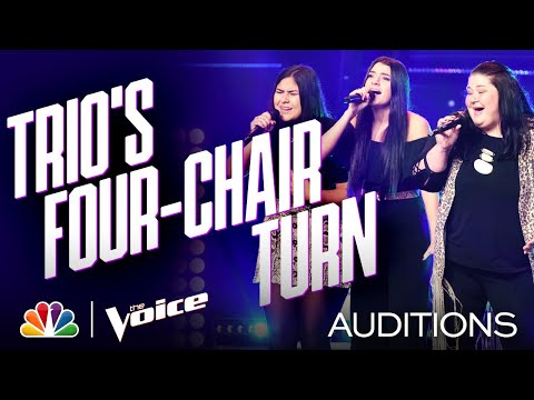 "Trio Worth the Wait Harmonizes Linda Ronstadt's ""When Will I Be Loved"" - Voice Blind Auditions 2020"