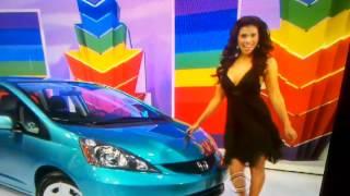 GWENDOLYN SHOWING A CAR IN A BLACK DRESS ON 01/06/2012.