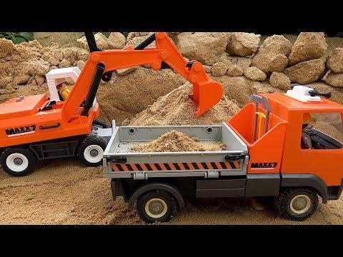 Excavator & Dump Truck Construction Toy Vehicles for Kids