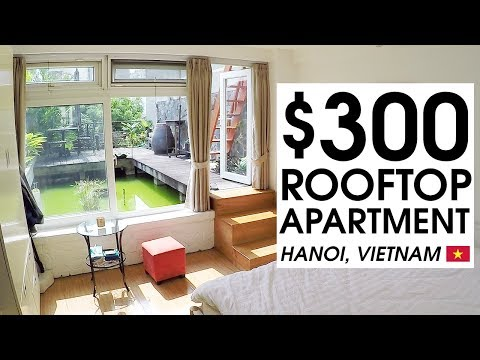 300 USD Tiny Rooftop Apartment in Hanoi Vietnam