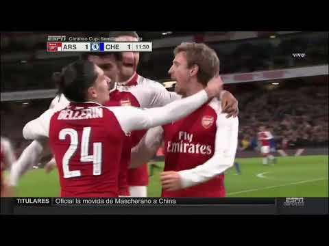 Arsenal vs Chelsea 2-1 All Goals Carabao Cup 24/01/2018 HD