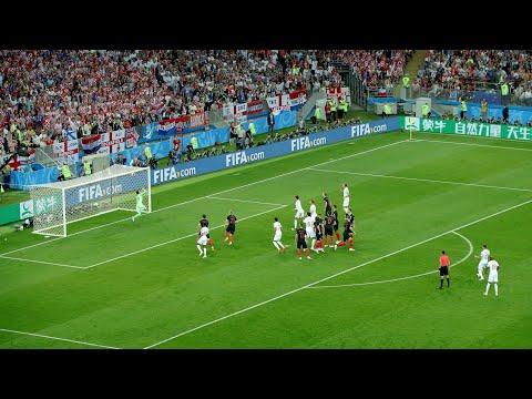 KIERAN TRIPPIER AMAZING FREE-KICK ENGLAND AGAINST CROATIA (CROWD VIEW) | WORLD CUP SEMI FINAL 2018