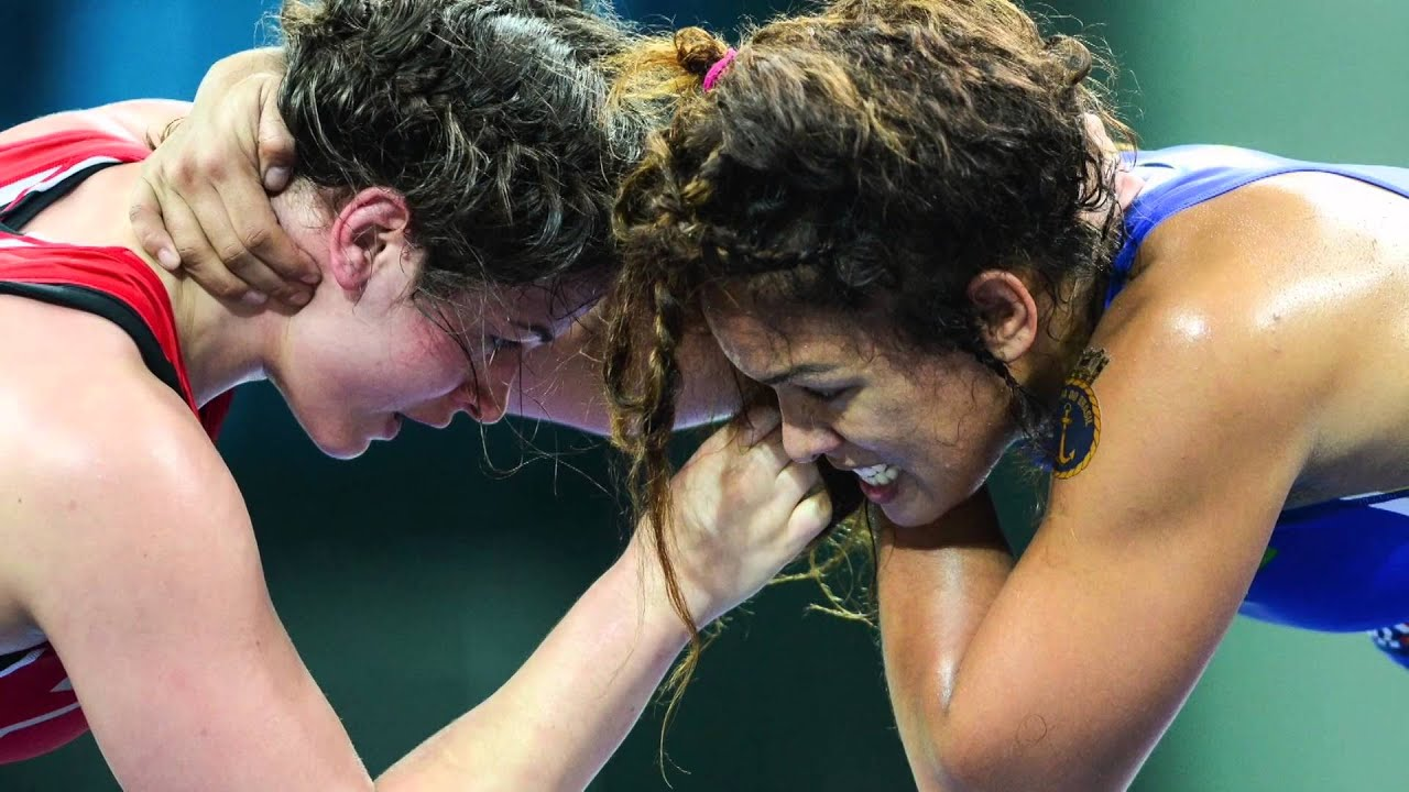 Female wrestling champions on how barriers <br>are being broken down in their sport
