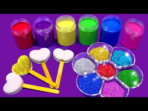 Wheels on the Bus  Making Sparkle Ice Cream out of Play Doh  Learn Colors Songs Surprise Toys