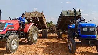 50 HP Tractors performance with trailer | Sonalika DI 47 RX & ARJUN NOVO 605 DI  Tractors in Village