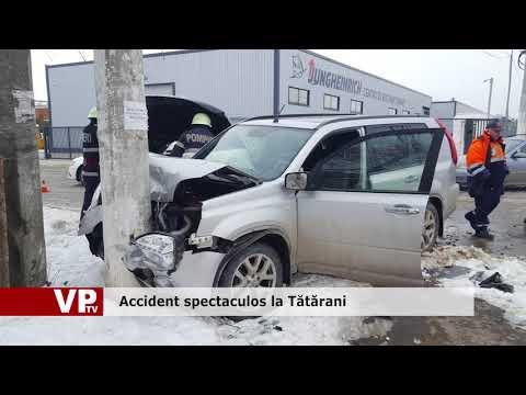 Accident spectaculos la Tătărani