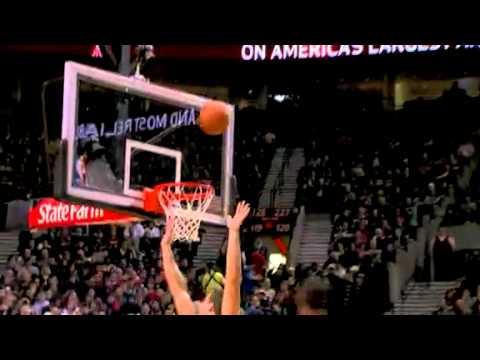 Nicolas Batum's dunk against the Nets