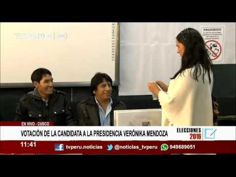 TV Perú: Verónika Mendoza emitió su voto en Cusco